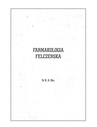 Obrazek Farmakologia Felczerska - Reprint