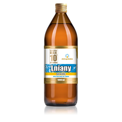 Obrazek Złoto Polskie | ZŁOTOLEN Olej lniany zimnotłoczony 1000 ml