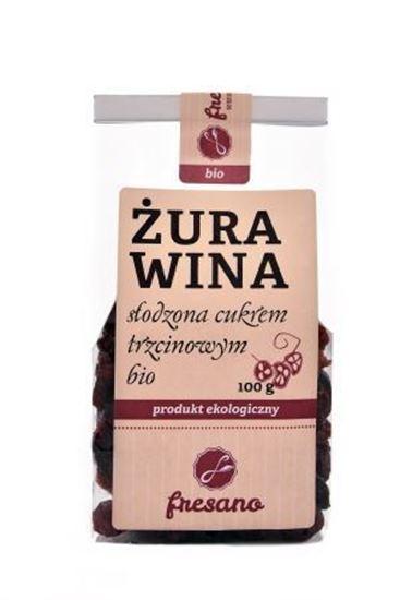 Obrazek Fresano   Żurawina słodzona cukrem trzcinowym BIO 100 g