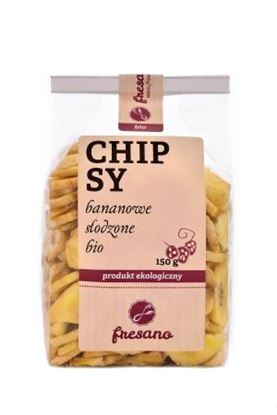 Obrazek Fresano | Chipsy bananowe słodzone BIO 150 g