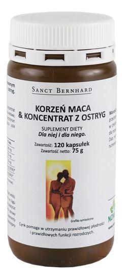 Obrazek Nomak   Korzeń maca & koncentrat z ostryg - 120 kaps.