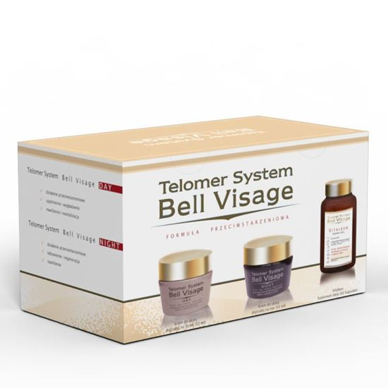 Obrazek Bonimed | Telomer System Bell Visage ZESTAW  KREM 2 x 50 ml + 60 kaps