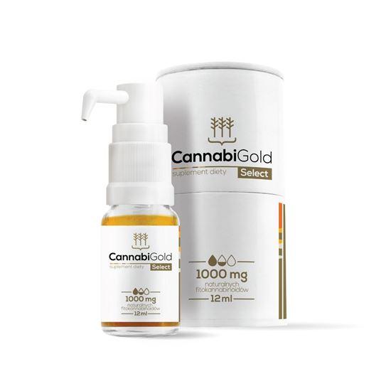 Obrazek HemPoland | CANNABI GOLD Select 1000mg 12ml - olej konopny