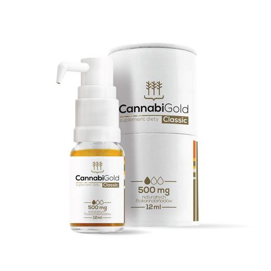 Obrazek HemPoland | CANNABI GOLD Classic 500mg 12ml - olej konopny