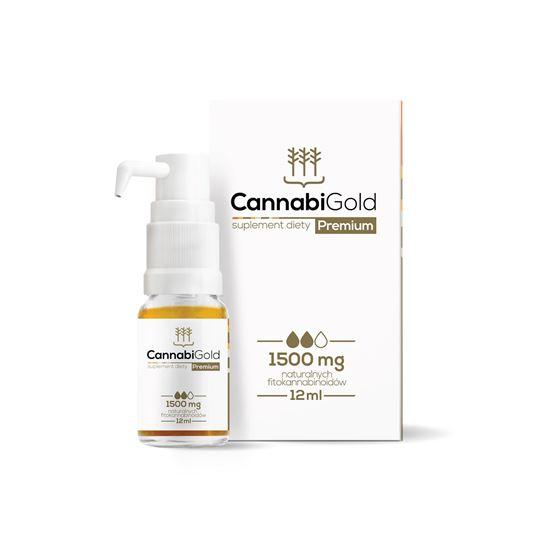 Obrazek HemPoland | CANNABI GOLD Premium 1500mg 12ml - olej konopny