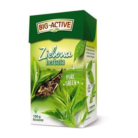Obrazek Big-Active   HERBATA ZIELONA Pure Green Liść 100g