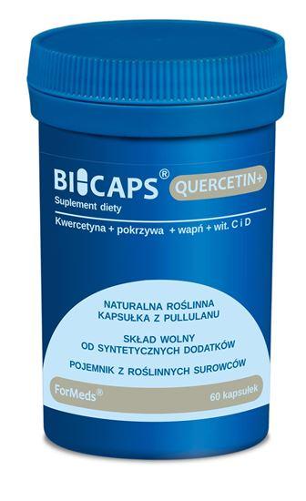 Obrazek ForMeds   BICAPS® QUERCETIN+ (kwercetyna, pokrzywa, wapń, wit. C i D) 60 kaps.
