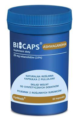 Obrazek ForMeds | BICAPS® ASHWAGANDHA (ekstrakt z korzenia ashwagandhy) 60 kaps.