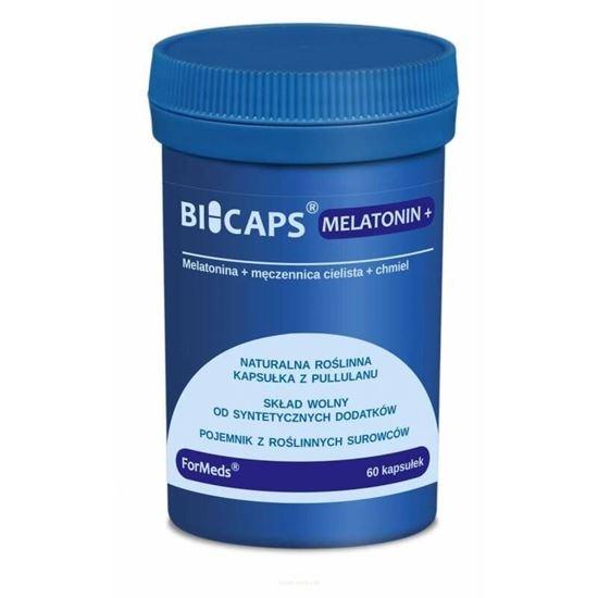 Obrazek ForMeds | BICAPS® MELATONIN+ (melatonina + męczennica cielista + chmiel) 60 kaps.