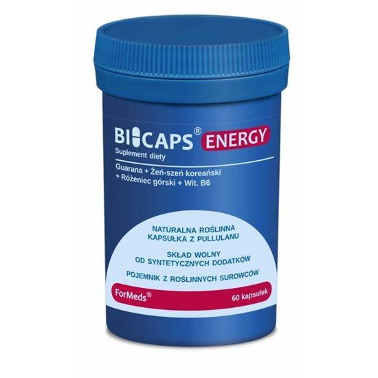 Obrazek ForMeds   BICAPS® ENERGY (guarana, żeń-szeń koreański,  różeniec górski, wit. B6) 60 kaps.
